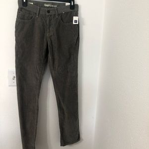 GAP BOYS Gray STRAIGHT LEG CORDUROY SIZE 14